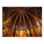 Baje la capilla del La Sainte-Chapelle, París, Tarjeta Postal