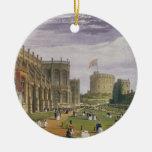 Baje la sala con vistas a la capilla y al t de San Adorno De Navidad