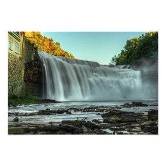 Baje las caídas, río de Genesee, Rochester, NY Fotografía