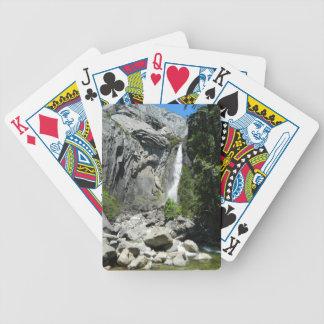 Baje las cataratas de Yosemite Baraja De Cartas
