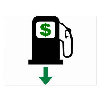 Baje los precios de la gasolina de los E.E.U.U. Tarjetas Postales