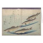 Bajío de pescados: Ayu - notecard Tarjeta Pequeña