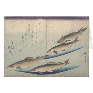 Bajío de pescados: Ayu - notecard Tarjetón