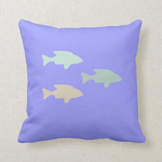 Bajío de pescados en la almohada azul de MoJo Cojín Decorativo