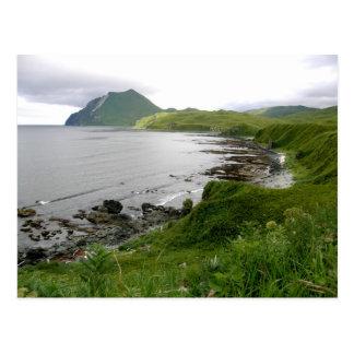Bajíos al norte de la bahía del verano isla de Un Tarjetas Postales