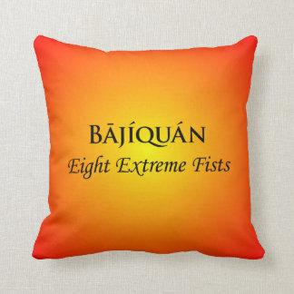 Bājíquán Black Print Throw Pillow