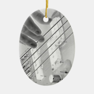 Bajista, bajo y mano, imagen negativa adornos de navidad