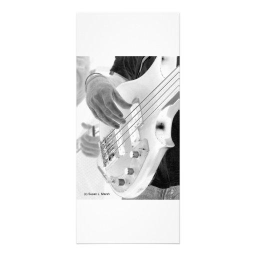 Bajista, bajo y mano, imagen negativa lonas personalizadas