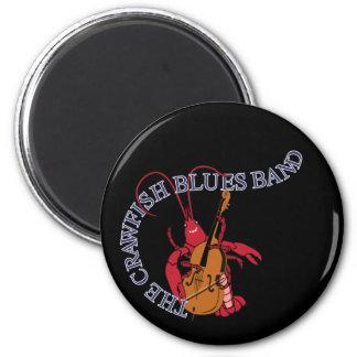 Bajista de la banda de azules de los cangrejos imán redondo 5 cm
