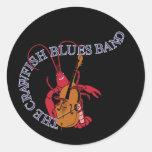 Bajista de la banda de azules de los cangrejos pegatinas redondas