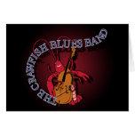 Bajista de la banda de azules de los cangrejos tarjetón