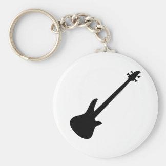 bajista de la guitarra baja llavero personalizado