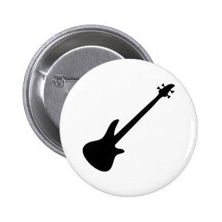 bajista de la guitarra baja pin redondo de 2 pulgadas