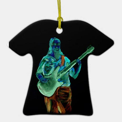 Bajista, hecho en los colores de neón en la parte adorno de cerámica en forma de playera