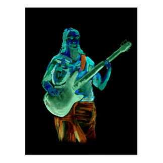 Bajista, hecho en los colores de neón en la parte  tarjetas postales