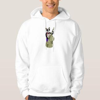 Bajista vertical de Boston Terrier Sudadera