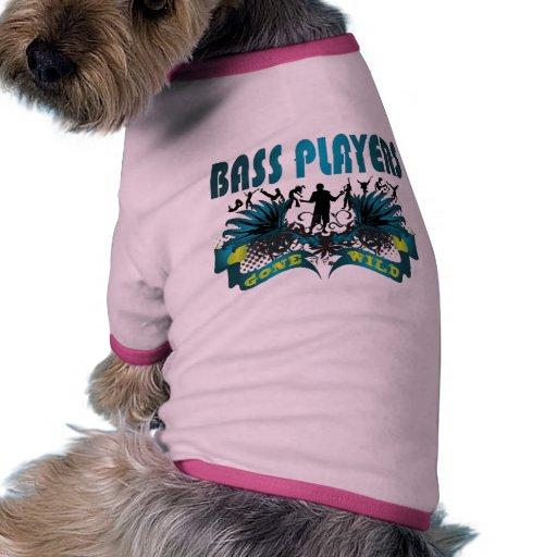 Bajistas idos salvajes camiseta con mangas para perro