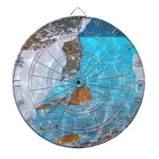 Bajo arte reflexivo azul de Digitaces del agua Tablero De Dardos