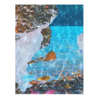 Bajo arte reflexivo azul de Digitaces del agua Postal