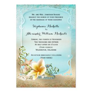 """Bajo boda del mar invitación 5"""" x 7"""""""