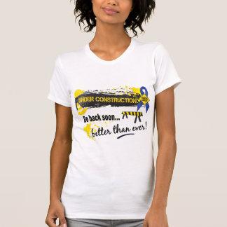 Bajo cáncer de colon de la construcción camisetas