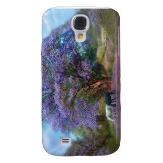 Bajo caso del arte del Jacaranda para el iPhone 3