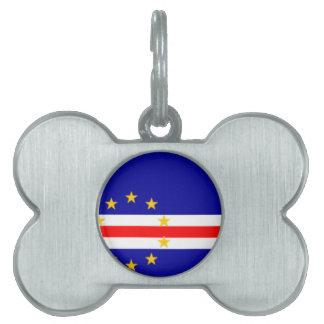 ¡Bajo costo! Bandera de Cabo Verde Placas De Mascota