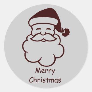 Bajo costo Papá Noel en los pegatinas Pegatinas Redondas