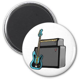 bajo de la guitarra eléctrica y amperio imán redondo 5 cm