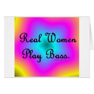 Bajo del juego de las mujeres reales felicitacion