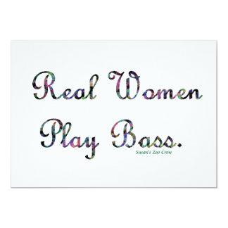 Bajo del juego de las mujeres reales invitación 12,7 x 17,8 cm