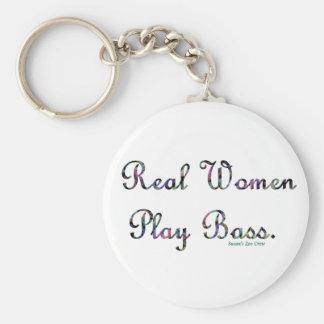 Bajo del juego de las mujeres reales llaveros personalizados
