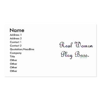 Bajo del juego de las mujeres reales tarjetas de visita