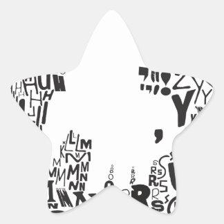¡bajo del saul! vista_vv.jpg pegatina en forma de estrella