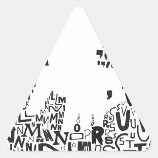 ¡bajo del saul! vista_vv.jpg pegatina triangular