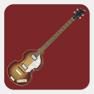 Bajo del violín calcomanía cuadradas personalizada