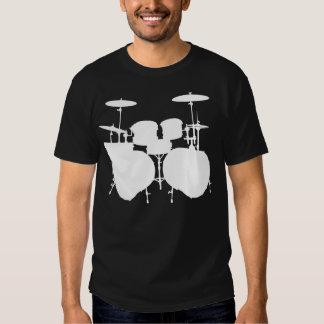 Bajo doble Drumset - oscuridad Remeras