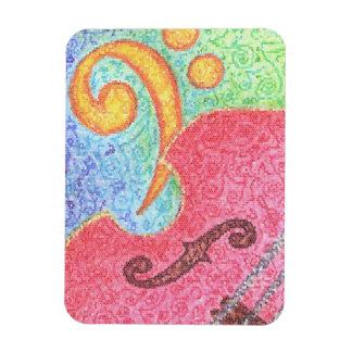 Bajo doble y Clef coloridos - imán