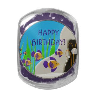 Bajo feliz cumpleaños del mar frascos de cristal jelly belly