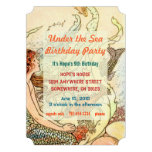 Bajo fiesta de cumpleaños de la sirena del mar
