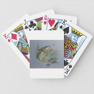 Bajo grande de la boca baraja cartas de poker