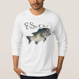 Bajo grande de la boca, pescado encendido remera