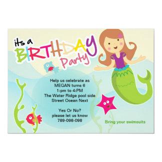 Bajo invitación de la fiesta de cumpleaños de la invitación 12,7 x 17,8 cm