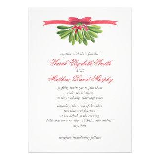 Bajo invitación del boda del muérdago