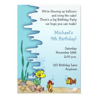 Bajo invitación del cumpleaños del mar