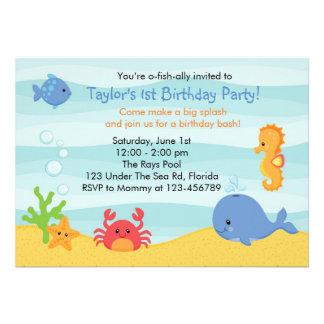 Bajo invitación del cumpleaños del mar muchachos