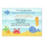 Bajo invitación del cumpleaños del mar (muchachos)