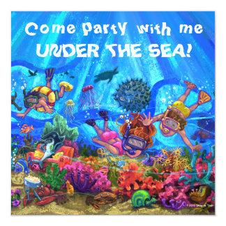 Bajo invitación del fiesta del mar invitación 13,3 cm x 13,3cm
