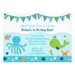 Bajo invitaciones del cumpleaños del mar invitación personalizada