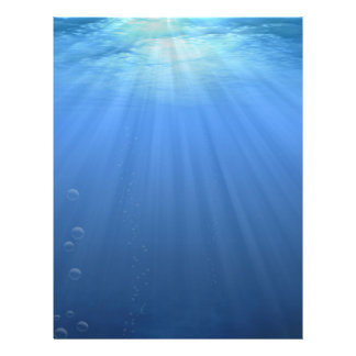 Bajo la superficie del mar membrete a diseño